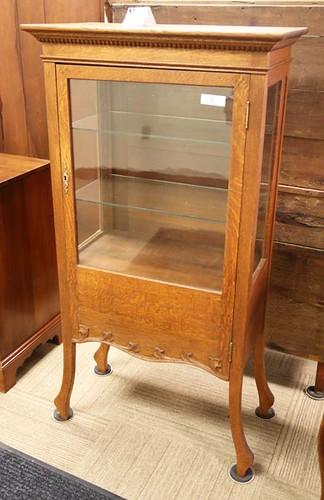 Oak Display Cabinet ($532.00)