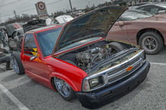 Chevy S10 Bagged (3rd Annual CAR SHOW benefiting PENDLETON PLACE) (Kᵉⁿ Lᵃⁿᵉ) Tags: geo:lat=3470494327 geo:lon=8225984217 geotagged hunterswoods simpsonville southcarolina unitedstates usa 4banger airbag automotivephotography automotiveportrait bagged bowtie carmeet carphoto carphotography carportrait carportraiture carshow chevrolet chevy chevypickup chevys10 chevys10bagged chevys10pickup chevys10truck chevytruck depthoffield dof dropped dropt engine greenvillecounty greenvillecountysc greenvillecountysouthcarolina greenvillesc greenvillesouthcarolina lowlife lowered loweredlifestyle nikond800 photoshop photoshoplensblur pickup pickuptruck redpickup redtruck s10 s10pickup s10pickuptruck s10truck sc truck trucklifestyle truckphoto upstate upstatesouthcarolina vehicle véhicule vehículo vendimia