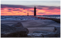 Simmons Island Park (etzel_noble) Tags: landscapelovers landscapephotography landscape waterscapephotography morningsky waterscape seascape epicsunrise redskies sunrisecolors wisconsin kenosha lakemichigan chasingsunrise sunriselovers sunrisephotography lakemichiganlighthouse simmonsislandpark lighthouse sunrise kenoshalighthouse