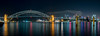 Sydney Harbour (Blues Point Reserve, McMahon's Point) (Buddy Patrick) Tags: harbour water cove boat boats city skyline light lights night nightshoot longexposure panorama building tower bridge icon iconic history historic heritage sydneyharbourbridge sydneycove sydney newsouthwales australia