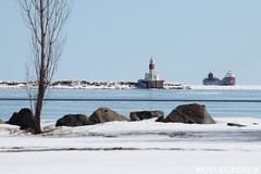 keb32418lgtscn_rb (rburdick27) Tags: lakesuperior lighthouse marquette kayeebarker ice scenicmichigan interlakesteamshipcompany