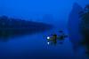 Fisherman and Cormorant (3dgor 加農炮) Tags: guilin lijiang fisherman river blue