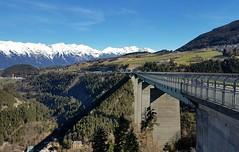 Europabrucke (Austria) (viola.v94) Tags: austria tirolo europabrucke bridge mountain alpes alpi nature panoramic architecture costruction building street samsung