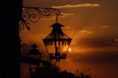 Half a sunset (Marco A Rodriguez) Tags: naranja orange cloud nube atardecer farol sunset mexico