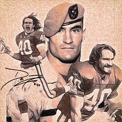 33 - Pat Tillman (Bob Smerecki) Tags: smackman snapnpiks robert bob smerecki sports art digital artwork paintings illustrations graphics oils pastels pencil sketchings drawings virtual painter 6 watercolors smart photo editor colorization akvis sketch drawing concept designs gmx photopainter 28 draw hollywood walk fame high contrast images movie stars signatures autographs portraits people celebrities vintage today metamorphasis 002 abstract melting canvas baseball cards picture collage jixipix fauvism infrared photography colors negative color palette seeds university michigan football ncaa mosaic