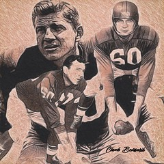 26 - Chuck Bednarik (Bob Smerecki) Tags: smackman snapnpiks robert bob smerecki sports art digital artwork paintings illustrations graphics oils pastels pencil sketchings drawings virtual painter 6 watercolors smart photo editor colorization akvis sketch drawing concept designs gmx photopainter 28 draw hollywood walk fame high contrast images movie stars signatures autographs portraits people celebrities vintage today metamorphasis 002 abstract melting canvas baseball cards picture collage jixipix fauvism infrared photography colors negative color palette seeds university michigan football ncaa mosaic