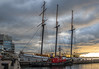 20171129.17.40-401 (HisPhotographs.com) Tags: boat harbourfront toronto tugboat sunrise cloudy clouds water lakeontario city downtown empire sandy boats empiresandycruises empiresandycruise tallship