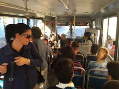 "mom and I using the local buses ""Diana"" (the new ones with back doors as well) (lezumbalaberenjena) Tags: lezumbalaberenjena cuba santa clara villas villa 2018 park parque vidal leoncio caro centro"