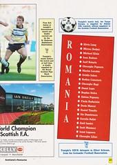 Scotland vs Romania - 1990 - Page 23 (The Sky Strikers) Tags: scotland romania rumania european championship qualifying match hampden park glasgow official souvenir matchday magazine two pounds
