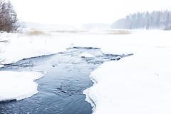 stream in early spring (VisitLakeland) Tags: winter kuopio nature outdoor finland ulkoilu talvi scenery scene maisema puro stream virta