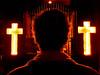 ¿Salvación o Condenación? (Andrés Guerrero) Tags: bar barsantos crosses cruces españa interior madrid oscuridad santos santosbar spain comunidaddemadrid es cruz iluminación iluminado cabeza head backlight contraluz