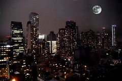 New York (JCMCalle) Tags: larga exposicion long exposure luces light night jcmcalle luna moon