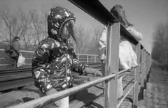 Scan-180415-0017 (Oleg Green (lost)) Tags: province spring kids railroad bridge wideangle film 35mm kodak academy 200 expired bw bessat voigtlander sskopar 4025 rodinal unedited
