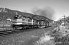 Crossing Over at Narrows (jamesbelmont) Tags: californiazephyr amtrak emd f40ph sd50 riogrande drgw spanishforkcanyon utah narrows superliner helper passenger