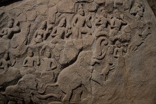 Colline de Mahabalipuram, Tamil Nadu, Inde