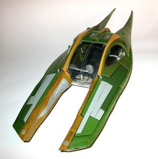 zam wesell speeder star wars saga attack of the clones vehicle hasbro 2002 b