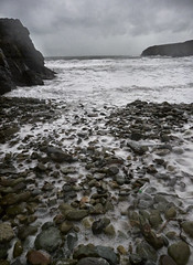 A change in the weather (Maggie's Camera) Tags: caerfai hightide wednesday14thmarch2018