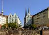 Berlin, Nicolaiviertel (zimmermann8821) Tags: berlin hauptstadt gebäude stadtzentrum deutschland nicolaiviertel haus häuser laubbaum ufer uferzone