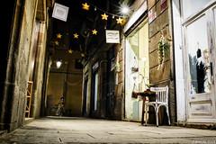 Lonely chair (j.borras) Tags: lonely chair bicke cyle nightstreetphotography streetphotography walkbyshooting walkingaround wandering born quarter ribera nikon 35mm lowangle