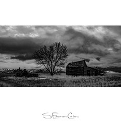 Farm Remains (SECarles) Tags: idaho grayscale blackandwhite bnw monochrome nature landscape clouds farm abandoned