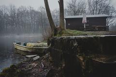out of season    l  2018 (weddelbrooklyn) Tags: badbramstedt see angelsee schleswigholstein winter nebel hütte holzhütte nikon d5200 lake cabin fishing gonefishing fog foggy neblig
