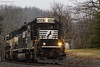 Swing It (nrvtrains) Tags: northfork whitethornedistrict ballast prlx overcast 923 empty norfolksouthern northforkrd christiansburg virginia unitedstates us