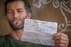fine from smoking (sami kuosmanen) Tags: travel man mies asia intia india police fine ticket 100 rupees smoking beard hauska hampi funny fun
