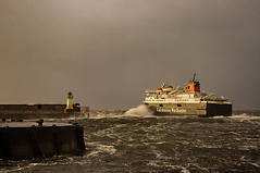 Don't Pay The Ferryman (Brian Travelling) Tags: inspired ferry travel vessel ship boat calmac caledonianmcbrayne caledonian mcbrayne briantravelling pentaxkr pentax pentaxdal storm stormy grey rough sea firthofclyde