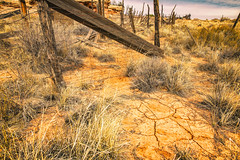 Cracked (KPortin) Tags: canyonlandsnationalpark hff fence dilapidated dirt grass cracked