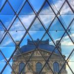 The Louvre  Paris France  ~   I.M. Pei's glass pyramid in 1989 thumbnail