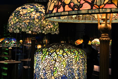 Tiffany Glass collection (Can Pac Swire) Tags: usa us unitedstates america american newyork city manhattan upperwestside museum historical society 170 centralparkwest tiffany glass lamp lampshade collection dregonneustadt vibrant colorful colourful 2018aimg7407 stained louis comfort