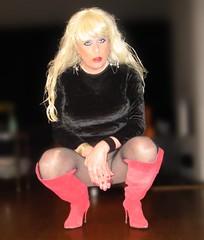 Hidden secrets... :-) (Irene Nyman) Tags: irenenyman dutch crossdress crossdresser irene nyman tranny tgirl transgirl boots stilettoes skirt legs blueeyes cutie babe blonde xdresser mtf fishnets tights pantyhose transvestite cute holland highheels overknees makeup dress minidress travestiet travestie xdress cd tv blackvelvet redsuede nailpolish