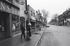 "Man in a white hat: James Street, Hamilton (Xsbmrnr (Please read profile before ""following"") Tags: street streetphotography hamilton hamiltonontario hamont blackandwhite bandw film filmphotography 35mm 35mmfilm olympusom1 om1 hc110 jamesstreethamilton people trix trx400"