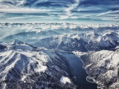 As far as the eye can see (Мaistora) Tags: mountain mountains alps snow sun sunlight sunshine lake water sky clouds blue white skyline landscape skyscape airplane birdseye viewpoint sight view vista aerial galaxy s8 snapseed