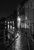 Sint-Annakerkstraat bridge, Bruges, Belgium (Plan R) Tags: bridge railing blackandwhite night dark evening rain reflection cobblestone bruges leica m 240 noctilux 50mm
