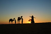 Dance at the Desert [Explored] (Bhaskar Dutta) Tags: dance lady desert woman camel sunrise sunset sun fun girl amusement silhouette jaisalmer rajasthan india incredible tourism dawn black natgeo yourshot explore