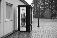 zero (Lux Obscura) Tags: drink machine rain bw nb acros fujifilm barracks monochrome f12 depthoffield dof droplets