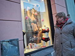Warsaw - -3210867 (Neil.Simmons) Tags: poland krakow streetphotography people coat street day woman walk candid underwear lingerie