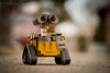 Wonders of the World (13skies) Tags: walle toys bank made handmade metal movie robot dof depthoffield driveway outdoors outside sonyalpha99 focus eyes character distance focallength yellow animated tractor wheels garbage