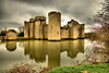 Bodiam Castle (Geoff Henson) Tags: castle moat building sky clouds grass water trees reflection hdr longexposure turret drawbridge medieval nationaltrust 1000v40f