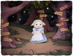 Sylvanian Families - Alice in Wonderland (Sylvanako) Tags: sylvanian alice woderland toy toys figure story fairytail fairy diorama craft forest tree families calico critters cute night scene miniature