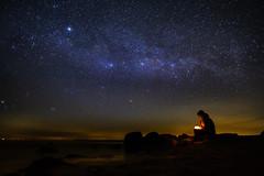 Teil der Milchstraße (vdbist) Tags: milchstrase milkyway ostsee rügen hiddensee strand himmel sterne stars baltic sea night
