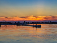 Sunset at Captree (Bob90901) Tags: sunset captree captreestatepark longisland newyork captreeboatbasin boatchannelbridge drawbridge rpg90901 sky clouds bridge civiltwilight goldenhour seaside shore coast babylon islip water canon 6d canonef2470mmf28liiusm waterfront pier 2016 april 1931