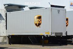 United Parcel Service (UPS) trailer/container @ distributiecentrum/distributioncenter Schiedam (Seacats) Tags: ups schiedam logistiek logistics delivery trailer container unitedparcelservice bruin brown freight cargo