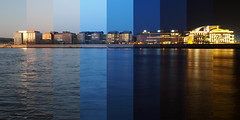 Business district timelapse (sonic182) Tags: business district üzleti negyed soroksári út budapest hungary magyarország danube river duna folyó reflection reflections timelapse photolapse hdtr long exposure day night nemzeti színház national theatre
