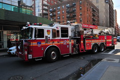 FDNY Tower Ladder 12 (Triborough) Tags: ny nyc newyork newyorkcity newyorkcounty manhattan chelsea fdny newyorkcityfiredepartment firetruck fireengine ladder towerladder ladder12 towerladder12 seagrave