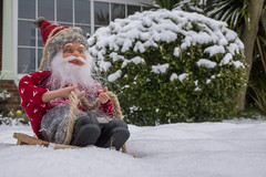 santa in the snow (Mark Rigler -) Tags: santa father christmas snow winter