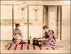 水彩画 (ookami_dou) Tags: vintage japan handcolored albumen painting suisaiga watercolor kimono 着物
