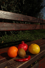 fruits in the park (mona_dee) Tags: fruits park bench food foodphotography