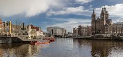 Amsterdam (Fotoencuadre Miguel Alvarez) Tags: amsterdam holanda paisesbajos canales barcos ciudad